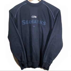 Vtg Seattle Seahawks NFL Crew Neck Sweater Large L